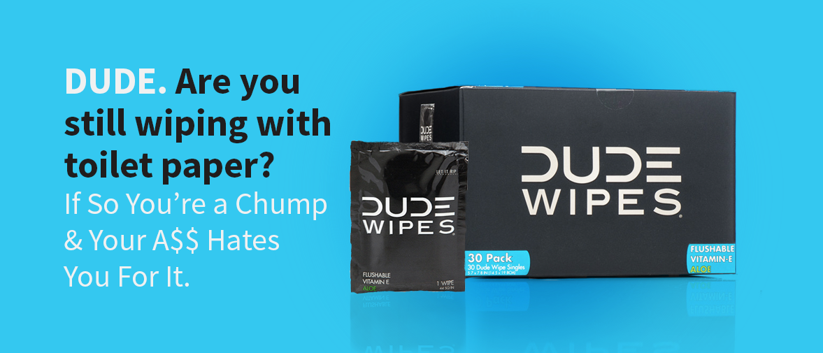 Advertising concept for Dude Wipes